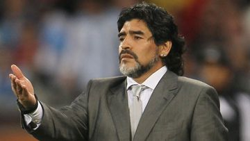 Diego Maradona lähtee laulukeikalle Kiinaan. (Kuva: Getty/All Over Press)