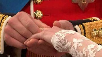 Kate Middletonin vihkisormus.