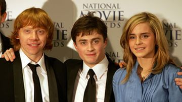 Harry Potter-tähdet Rupert Grint, Daniel Radcliffe ja Emma Watson. (Kuva: Chris Jackson/Getty Images)