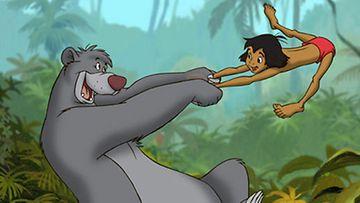 Baloo ja Mowgli.