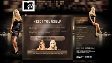 Heidi Yourself -nettisovellus Heidi Montagista (MTV.co.uk)