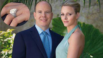 Monacon prinssi Albert ja Charlene Wittstock (EPA)