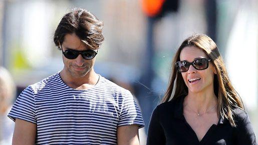 Hilary Swank ja Laurent Fleury kuvattuna Los Angelesissa.