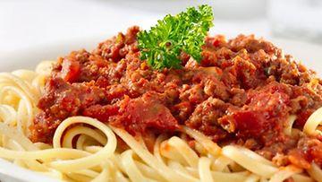 Spagetti Jauhelihakastike