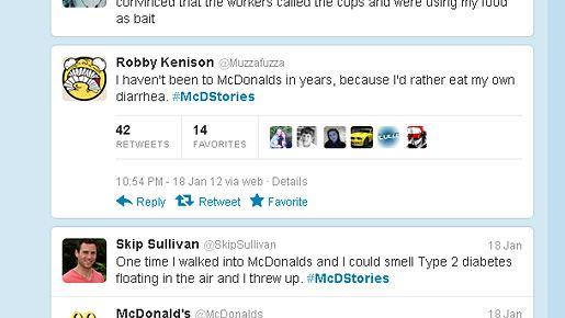 #McDStories-viestejä Twitterissä.