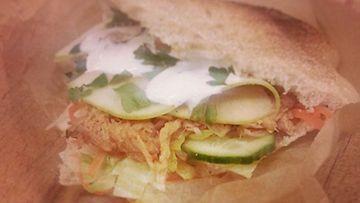 """Street Gastro -ravintolan sandwich, työnimeltään """"Pork Lover"""""""