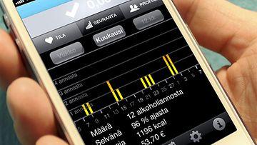 EHYT ry:n uusi mobiilisovellus auttaa seuraamaan alkoholinkulutusta.