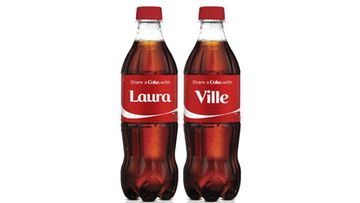 Muun muassa Laura ja Ville saavat omat nimikko-Coca-Colansa