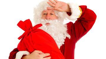 Joulun viettäminen on hikistä hommaa.