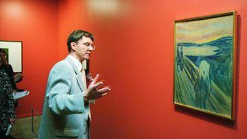 """Taidekeskus Retretti esittelee norjalaisen Edward Munchin töitä tänä kesänä, Retretin johtaja Markku Valkonen esittelee yhtä kuuluisimmista Munchin töistä nimeltä """" Huuto """" ."""