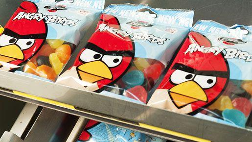 Angry Birds -makeisia Fazerin tehtaalla Lappeenrannassa