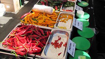 Chilifest 2012 -tapahtuman tarjontaa.