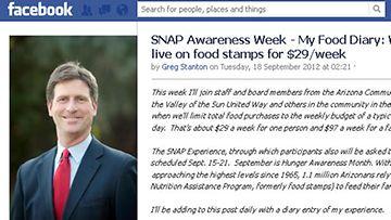 Pormestari Greg Stanton raportoi kokemuksistaan Facebook-sivuilla
