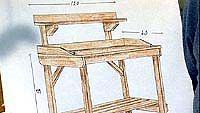 ruukutuspöydän piirros