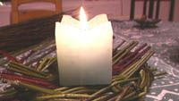 Kynttilä palaa