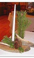 Havu-kynttiläasetelmat olivat suosittuja sotavuosina.