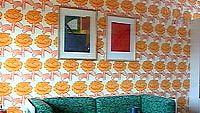 1970-luvun olohuone Tuusulan asuntomessuilla