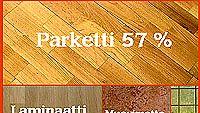 Eri lattiamateriaalien suosio suomalaisten keskuudessa