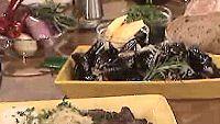 Sinisimpukat chili-rosmariiniliemessä ja maksaa venetsialaisittain