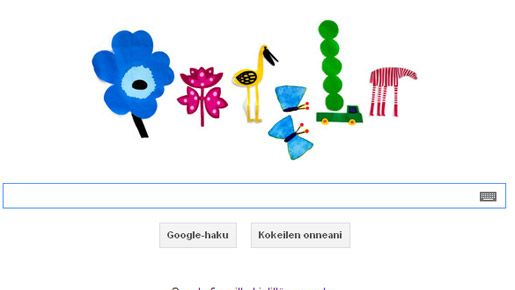 Marimekon mukaan heidän doodlensa on ensimmäinen suomalaisen suunnittelijan tekemä kansainvälinen Google-logomuunnos.