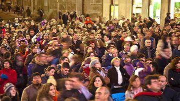 Leppoisaa joulutunnelmaa Madridista.