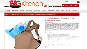 Kaljamaha tarpeeseen. Kuva ruutukaappaus BIG Kitchen -nettikaupasta.