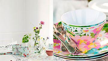Romanttikko kattaa vappunakin pöytään pastellia ja kukkaloistoa.