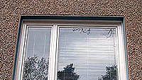 Uusi ikkuna ulkoa päin kuvattua