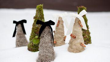 Joulukuusi syntyy myös sammaleesta tai pellavasta. Kuva: Noora Qvick, Miss Flower