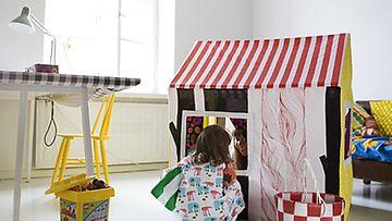 Surrur-kirjan ohjeilla syntyy muun muassa hauska pikkumökki lasten leikkeihin.