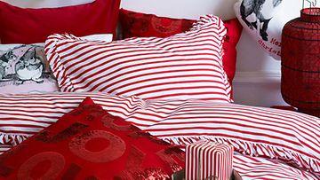 H&M Homen sänky on tänä vuonna pehmeän punainen.