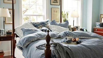 Gant Homen ihanat kääntölakanat ovat yhtä aikaa siniset ja harmaat.
