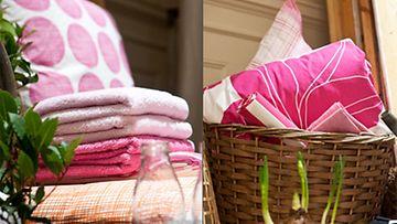 Vaaleanpunaisilla somisteilla piristät kodin ilmettä hetkessä.