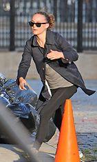 Natalie Portman lenkillä New Yorkissa.