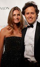 Lauren Bush tulevan miehensä David Laurenin kanssa.