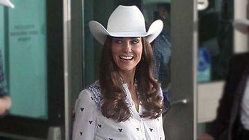 Catherine, Cambridgen herttuatar yllätti cowboy-hatussa.