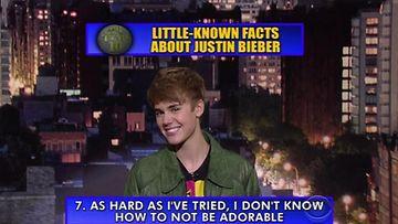 Justin Bieber David Lettermanin vieraana