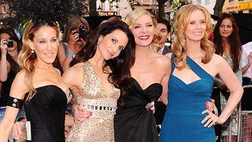 Sinkkuelämää-tähdet Cynthia Nixon, Sarah Jessica Parker, Kim Cattrall ja Kristin Davis