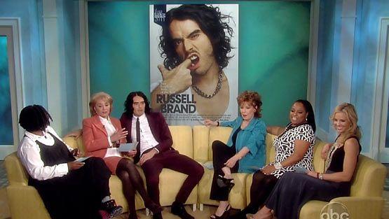Russell Brand vieraili The View -keskusteluohjelmassa.