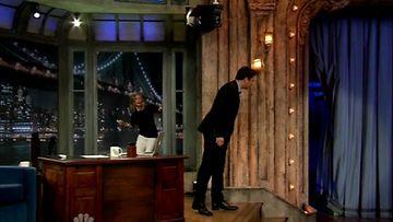 Cameron Diaz saapui ikkunasta Jimmy Fallonin haastatteluun.