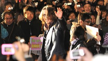 Johnny Depp hurmasi fanit Japanissa