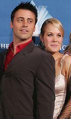 Matt LeBlanc ja Andrea Anders tapasivat Joey-sarjan kuvauksissa.