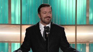 Ricky Gervais juonsi vuoden 2011 Golden Globe -gaalan.