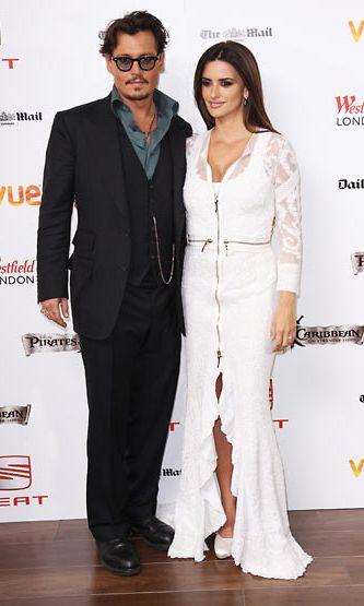 Depp ja Cruz POTC-elokuvan ensi-illassa Lontoossa.