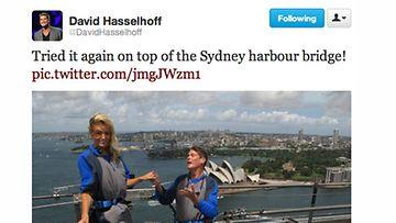 David Hasselhoff kosi naisystäväänsä Hayley Robertsia