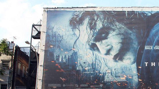 Heath Ledger The Dark Knight -elokuvan julisteessa