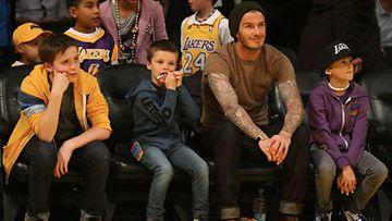 Brooklyn Beckham, Cruz Beckham, David Beckham ja Romeo Beckham