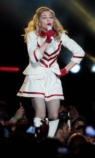 Madonna performing a concert in Rome, Italy. 12.6.2012