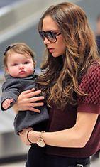 Victoria Beckham ja 7 kuukautta vanha Harper-tytär