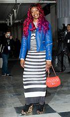 Azealia Banks nähtiin Lontoon muotiviikoilla helmikuussa 2012.